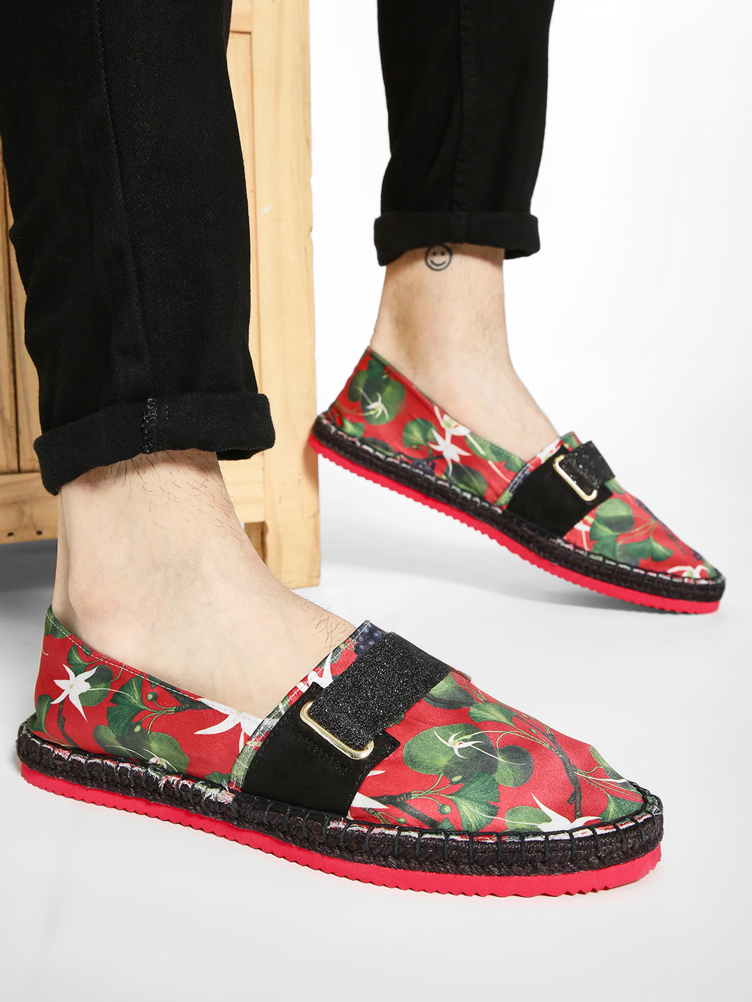 Shivan & Narresh X KOOVS Multi Vineyard Print Tape Espadrilles 1