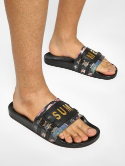 Shivan & Narresh X KOOVS Summer Oriental Floral Print Sliders