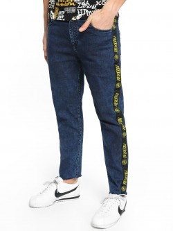 K Denim KOOVS Text Side Tape Slim Jeans