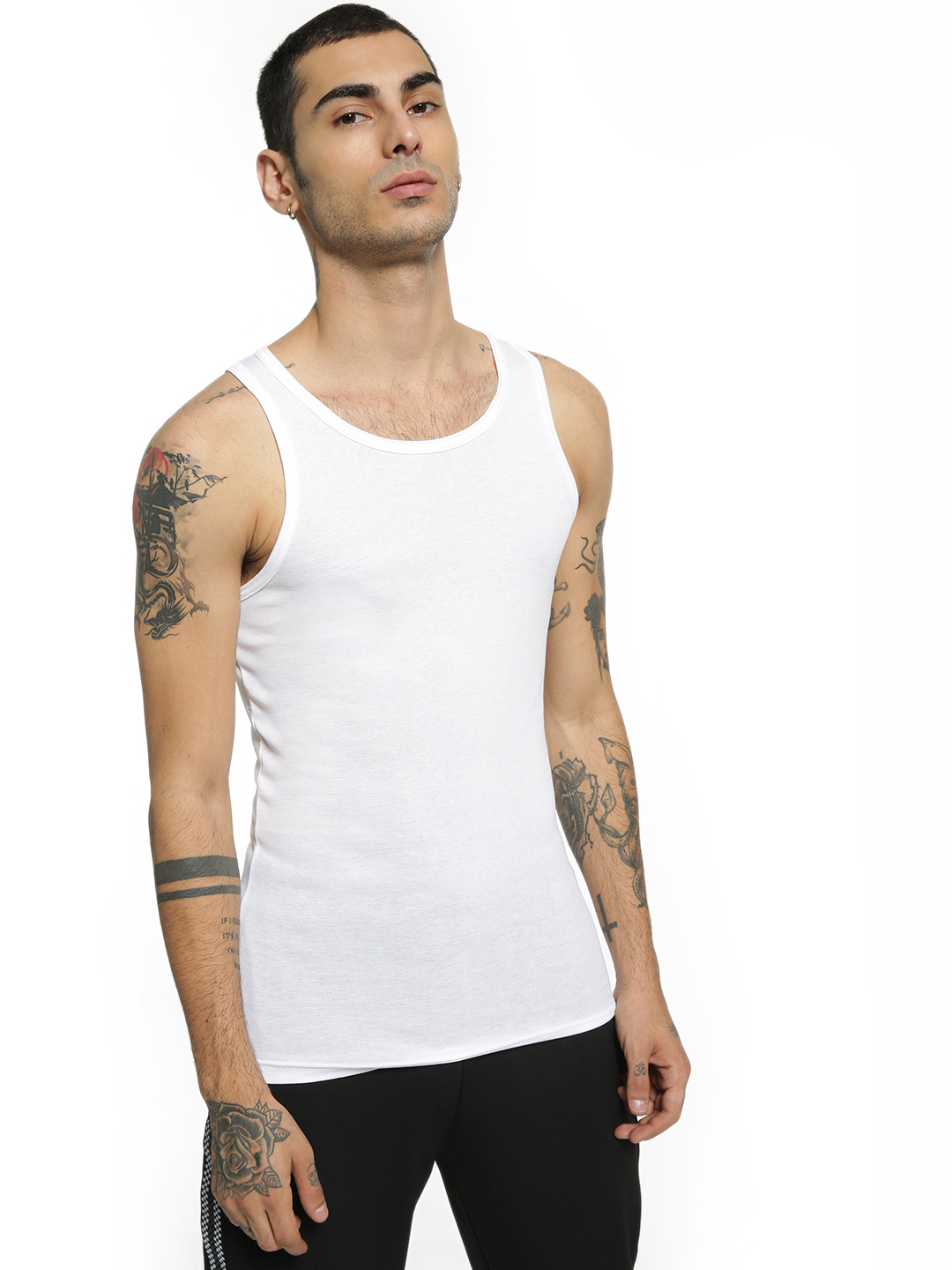 Jockey White Basic Ribbed Vest 1