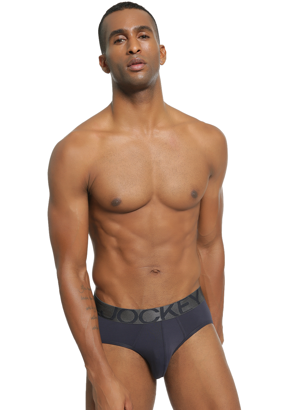 Jockey Blue Logo Print Waistband Brief 1