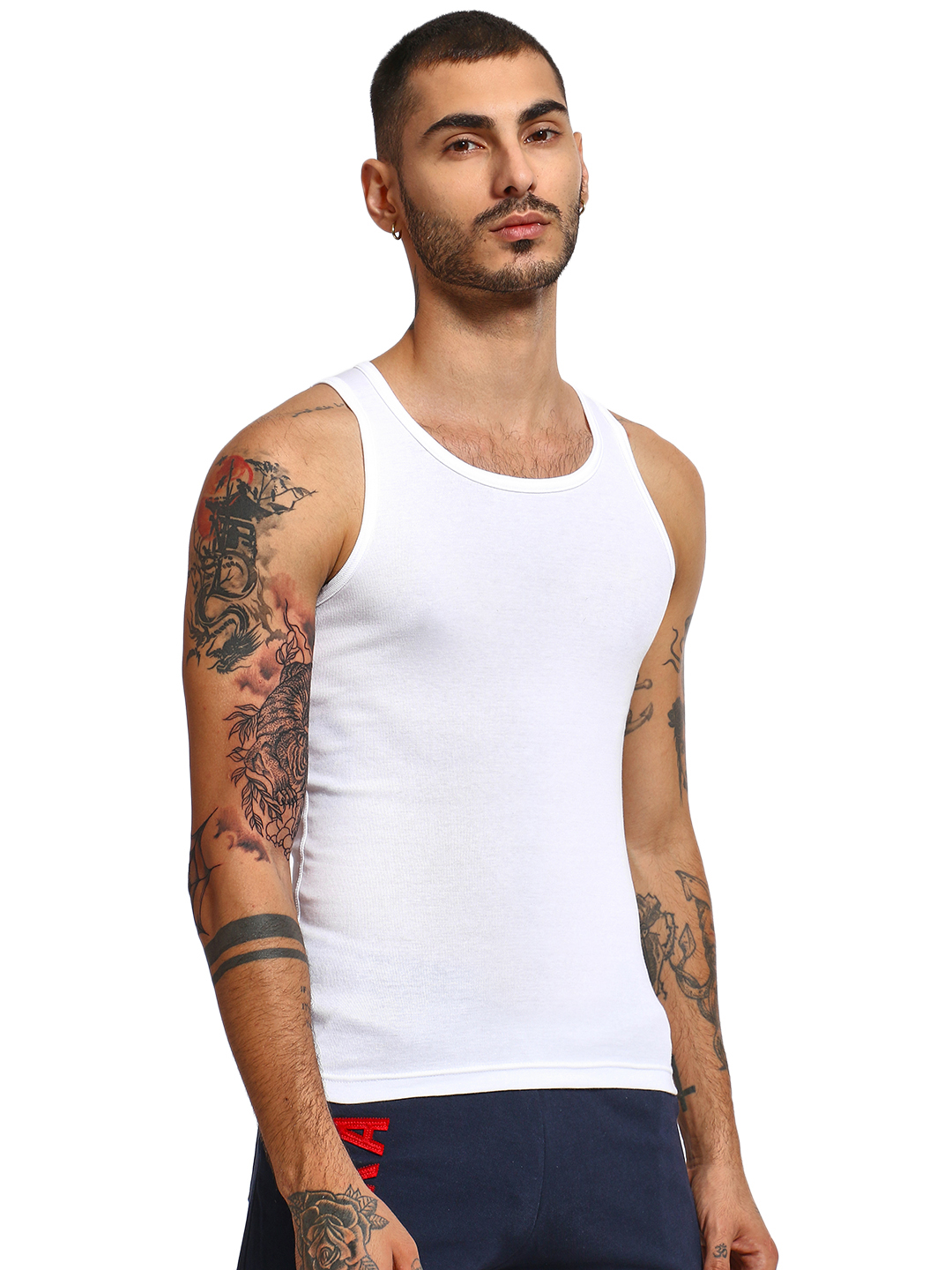 Jockey White Basic Slim Fit Vest 1