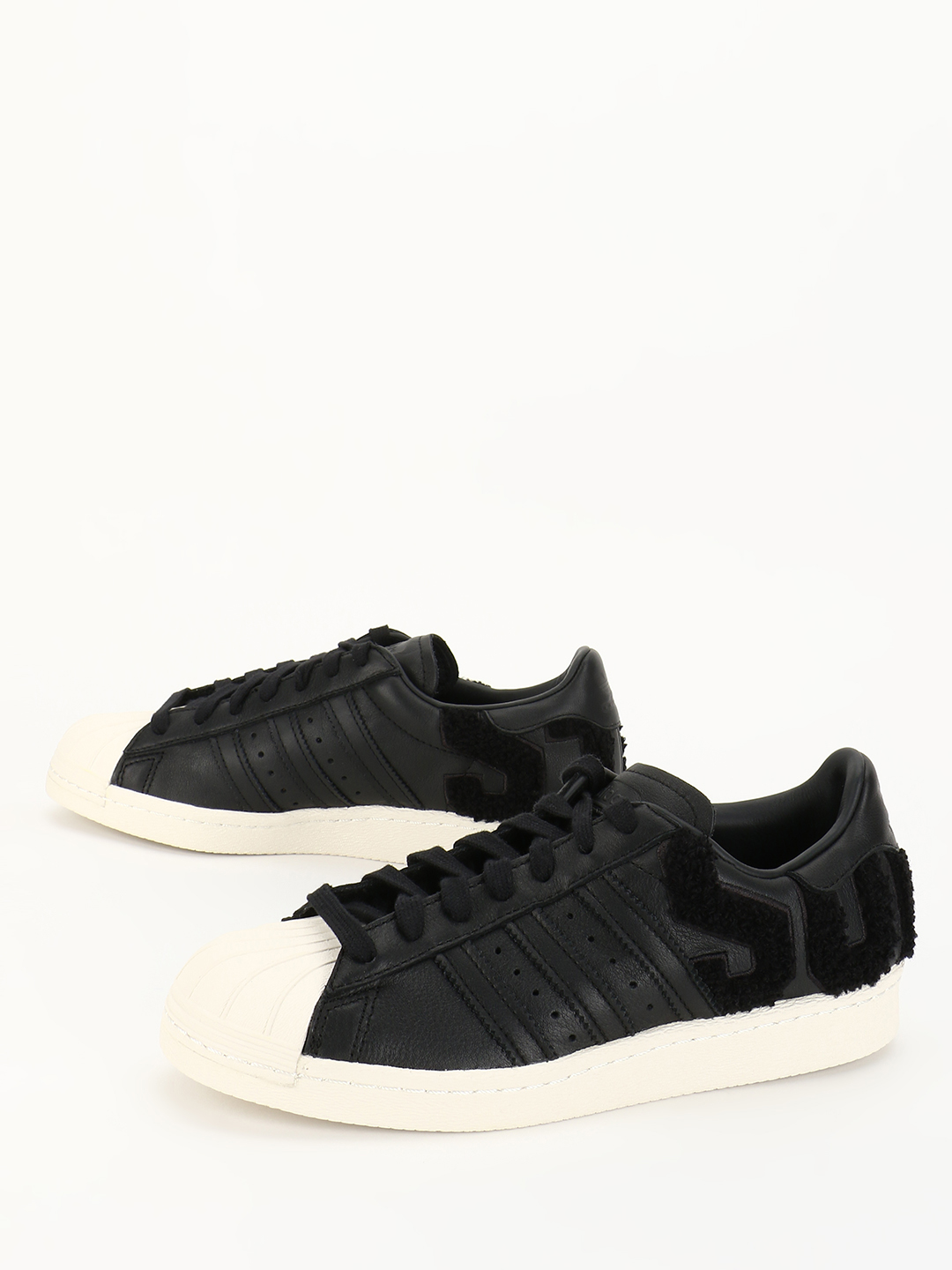Adidas Originals Black Superstar 80s Shoes 1