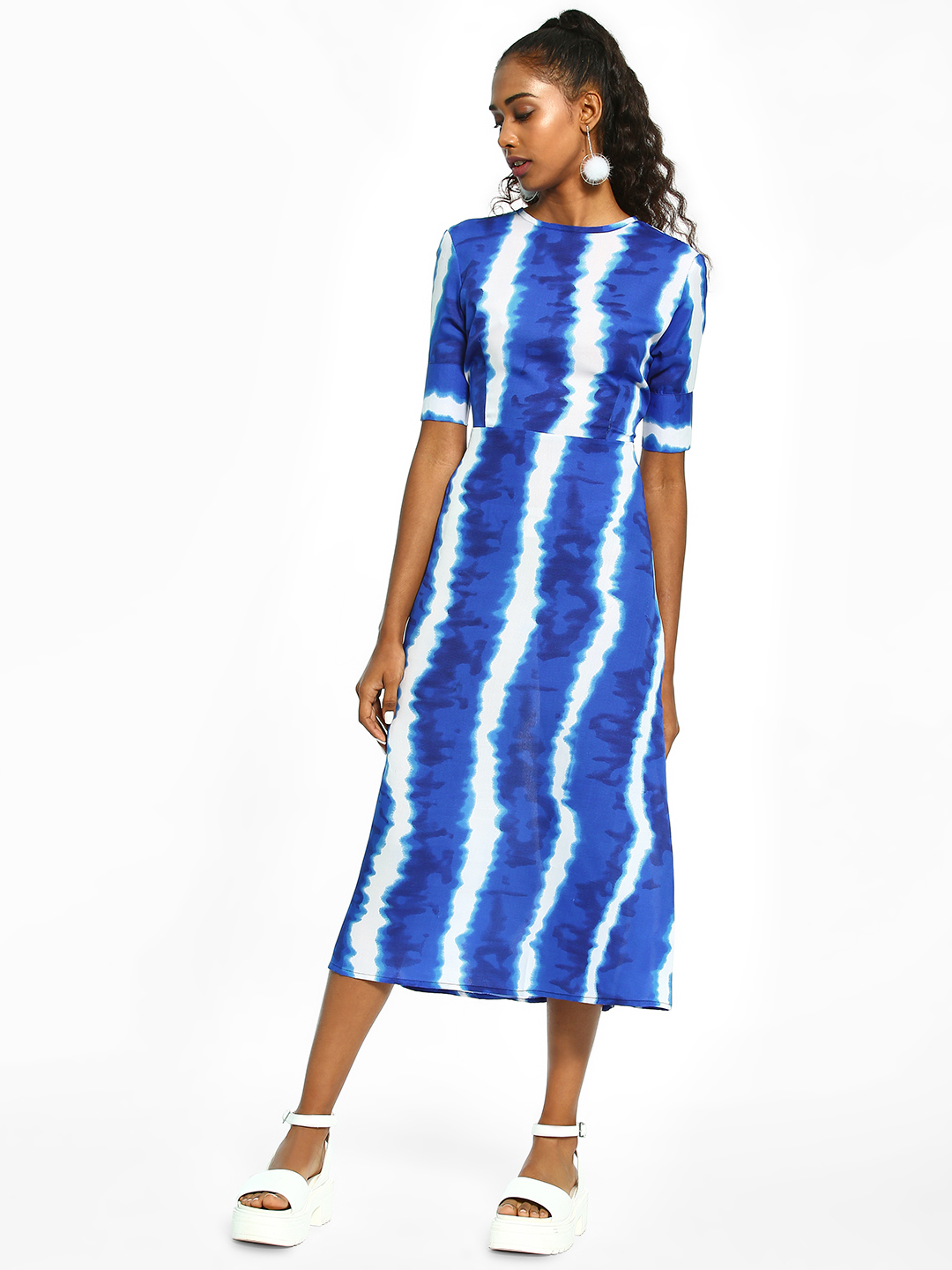 Closet Drama Multi Tie-Dye Back Cut-Out Midi Dress 1