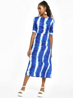 Closet Drama Tie Dye Cut-Out Midi Dress