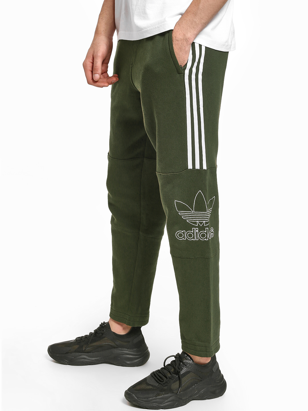 Adidas Originals Green Outline Pants 1