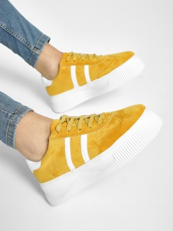 My Foot Couture Suede Lace-Up Sneakers