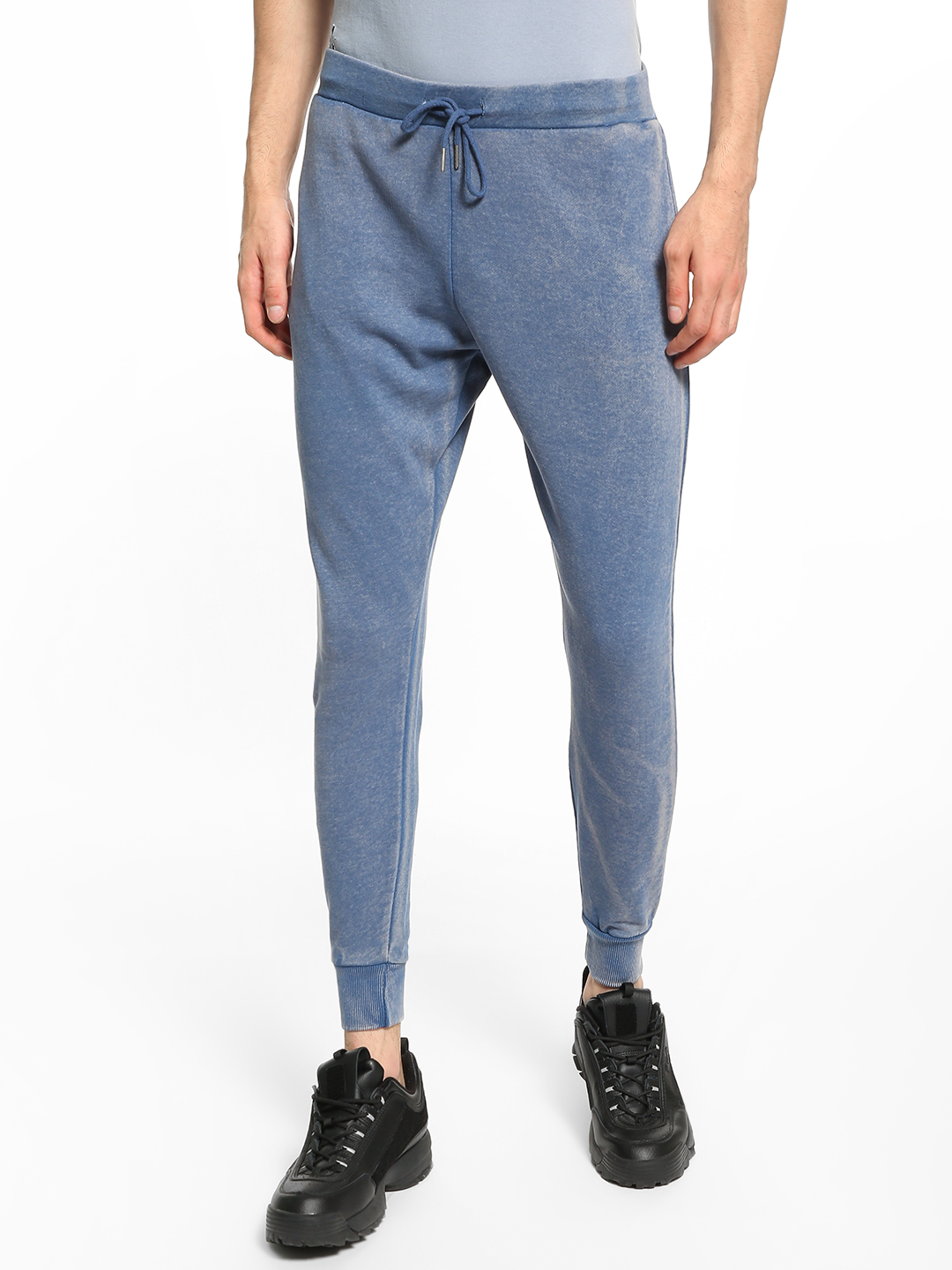 Brave Soul Blue Knitted Drop Crotch Joggers 1