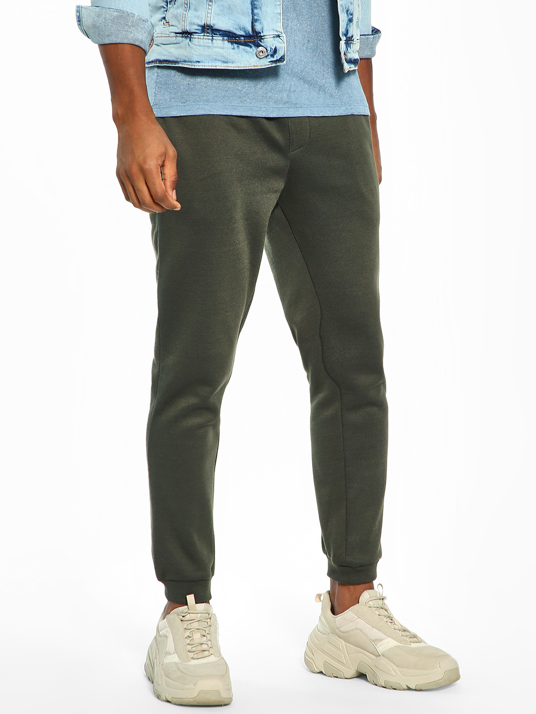 Brave Soul Green Basic Knitted Joggers 1
