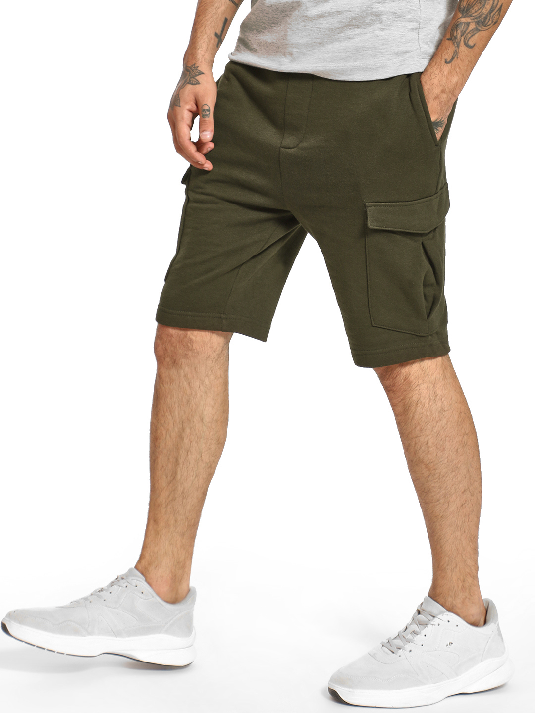 Brave Soul Brown Cargo Pocket Drawcord Shorts 1