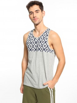 Brave Soul Cut & Sew Printed Panel Vest