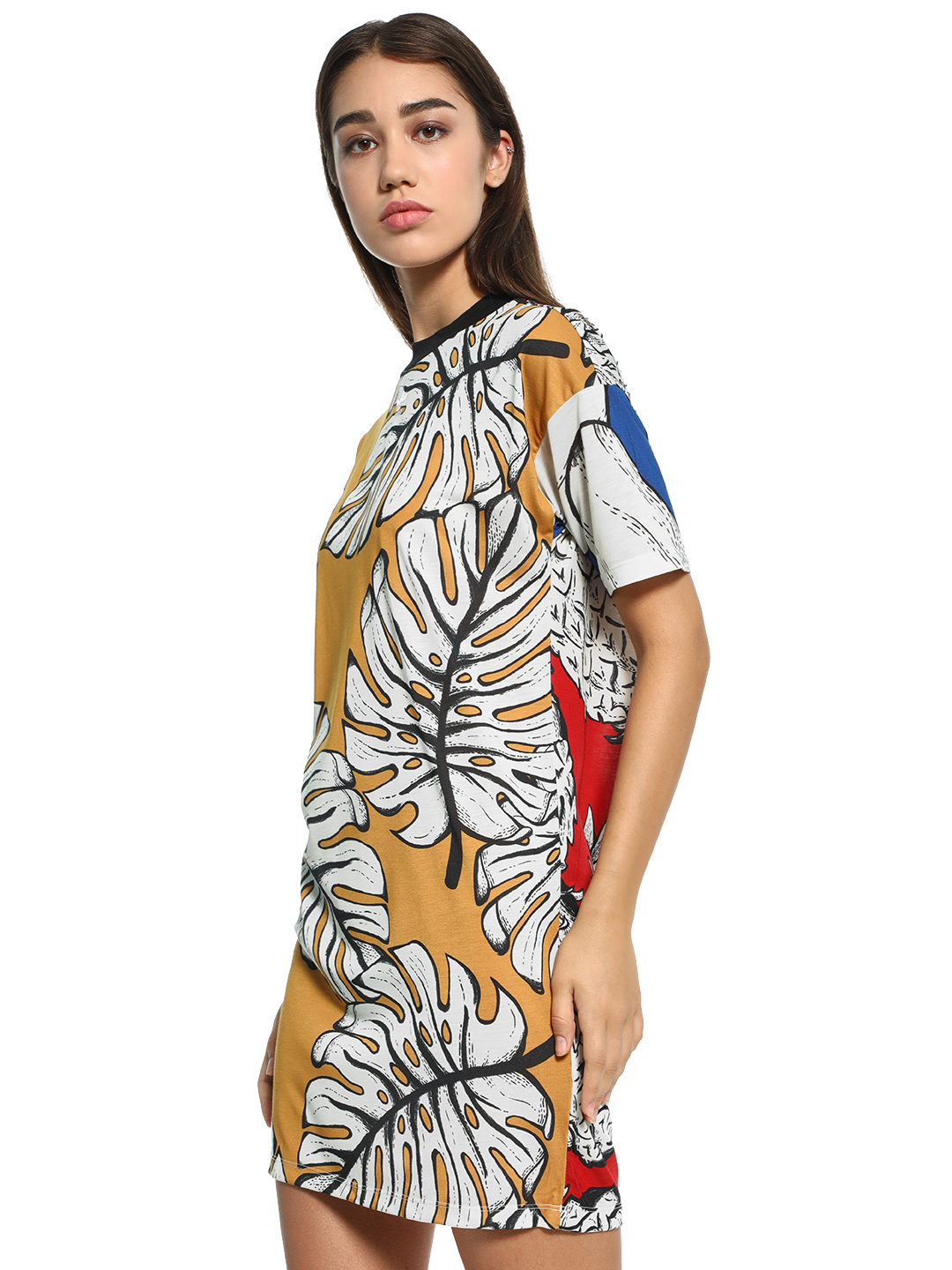 Adidas Originals Multi Tropical Pineapple Print T-Shirt Dress 1