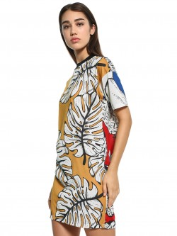 Adidas Originals Tropical Pineapple Print T-Shirt Dress