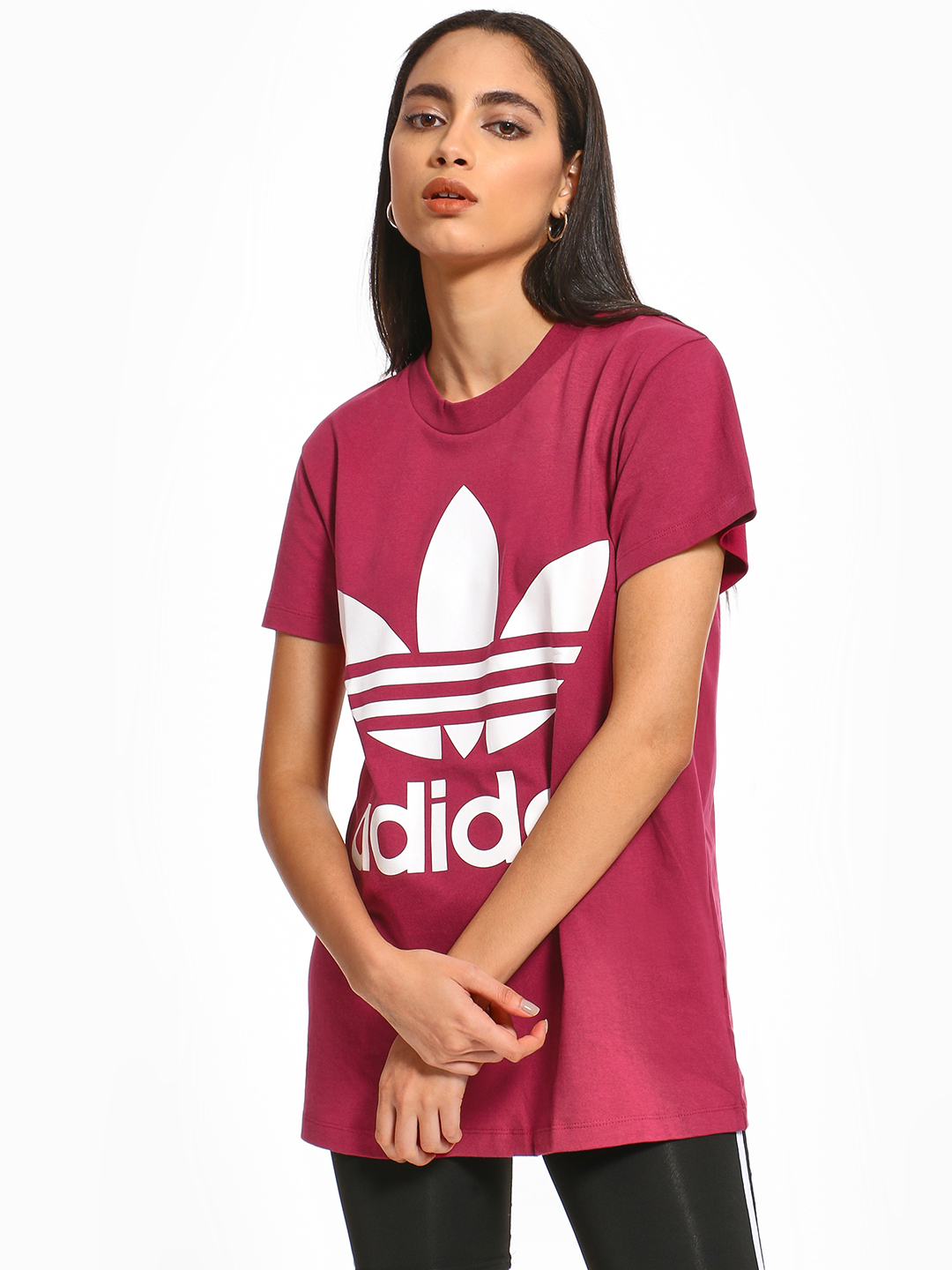 Adidas Originals Pink Oversized Trefoil T-Shirt 1