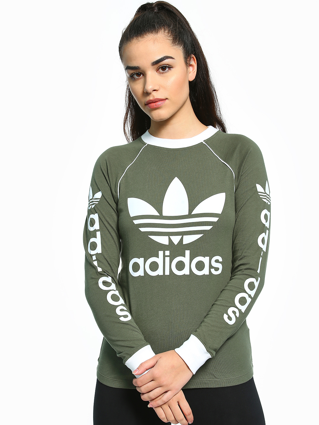 Adidas Originals Green OG Long Sleeve T-Shirt 1