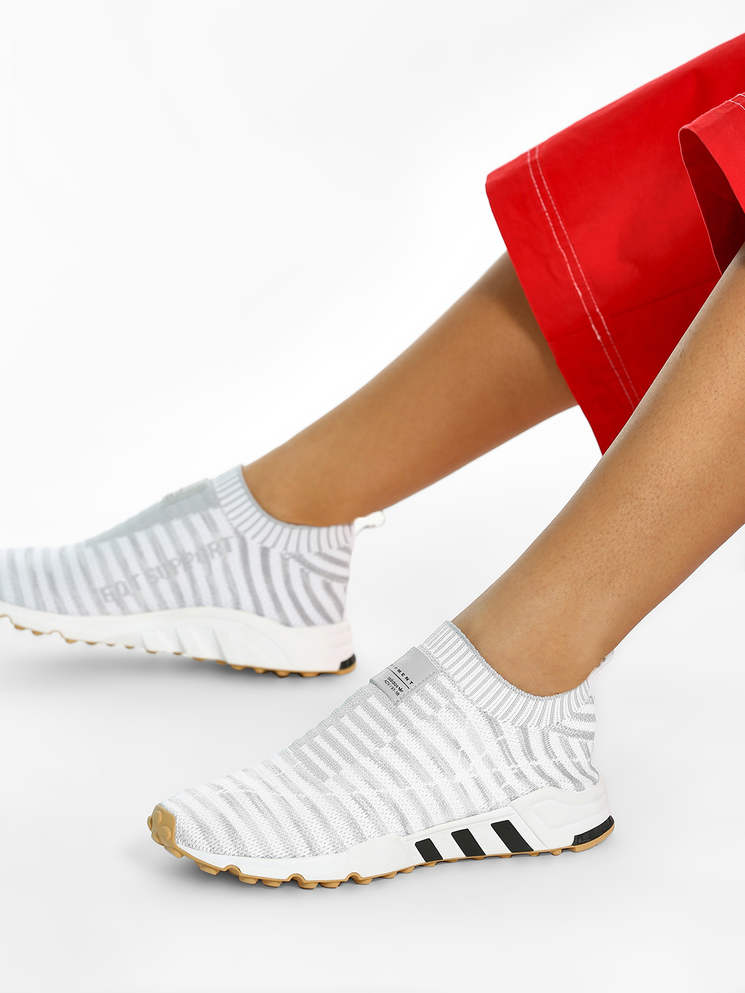 Adidas Originals White EQT Support Sock Primeknit Shoes 1