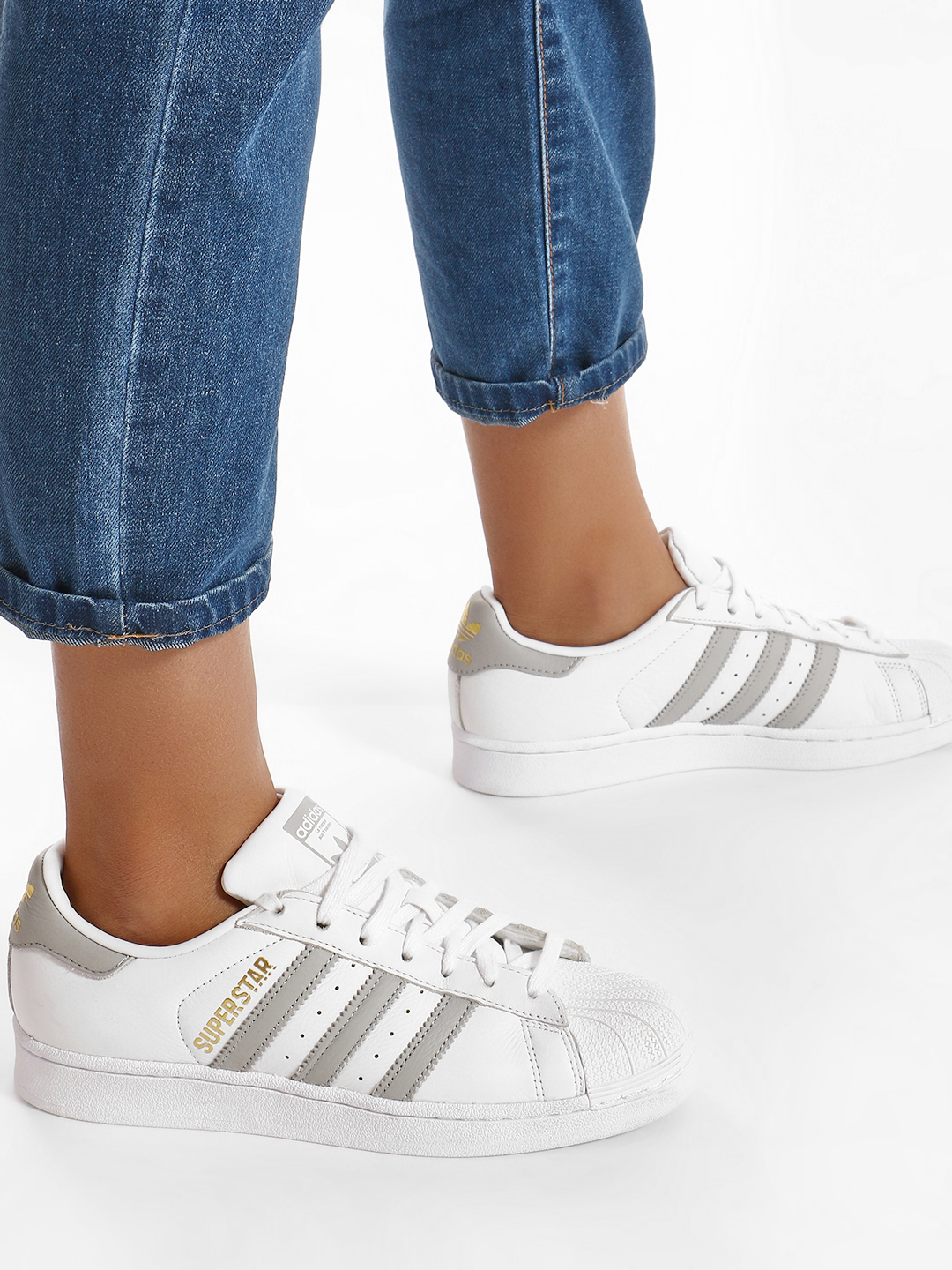 Adidas Originals White Superstar Shoes 1