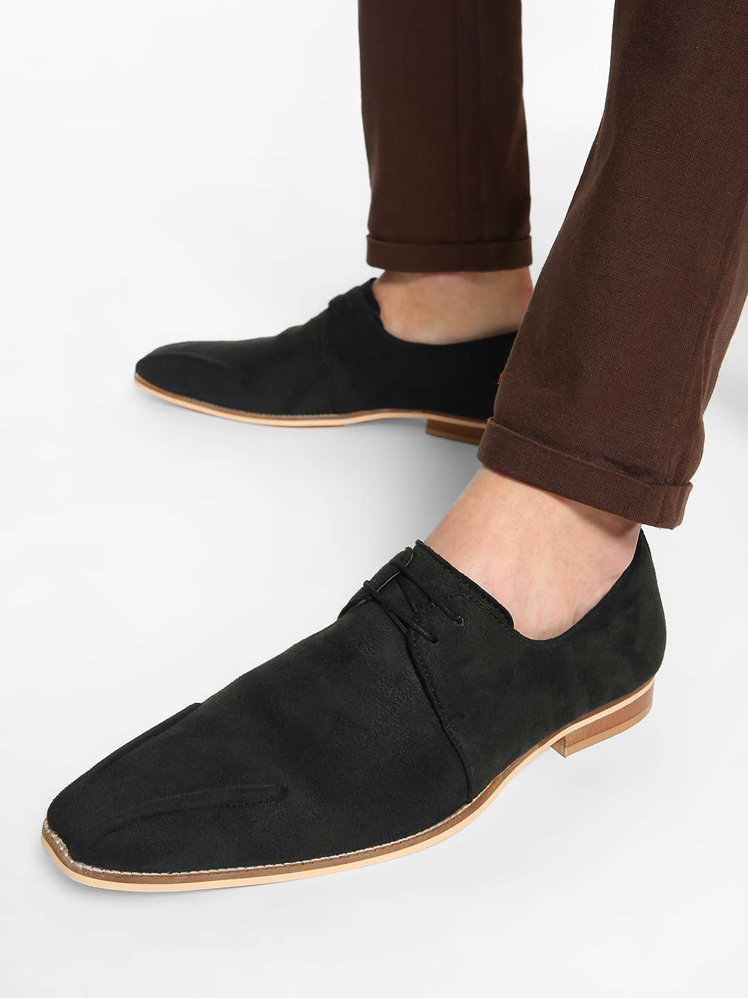 Griffin Black Suede Derby Formal Shoes 1