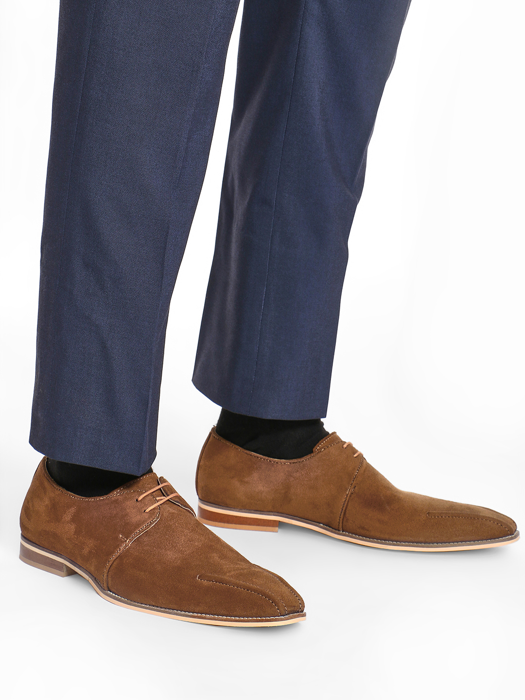 Griffin Brown Suede Derby Formal Shoes 1