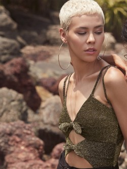 Shivan & Narresh X KOOVS Shimmer Bow Detail Bodysuit