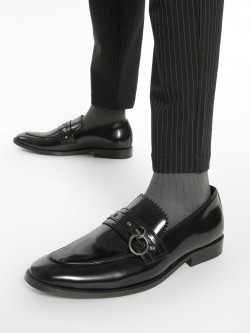 Griffin Ring Detail Fringed Loafers