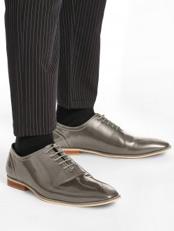 Griffin Metallic Patent Brogue Shoes