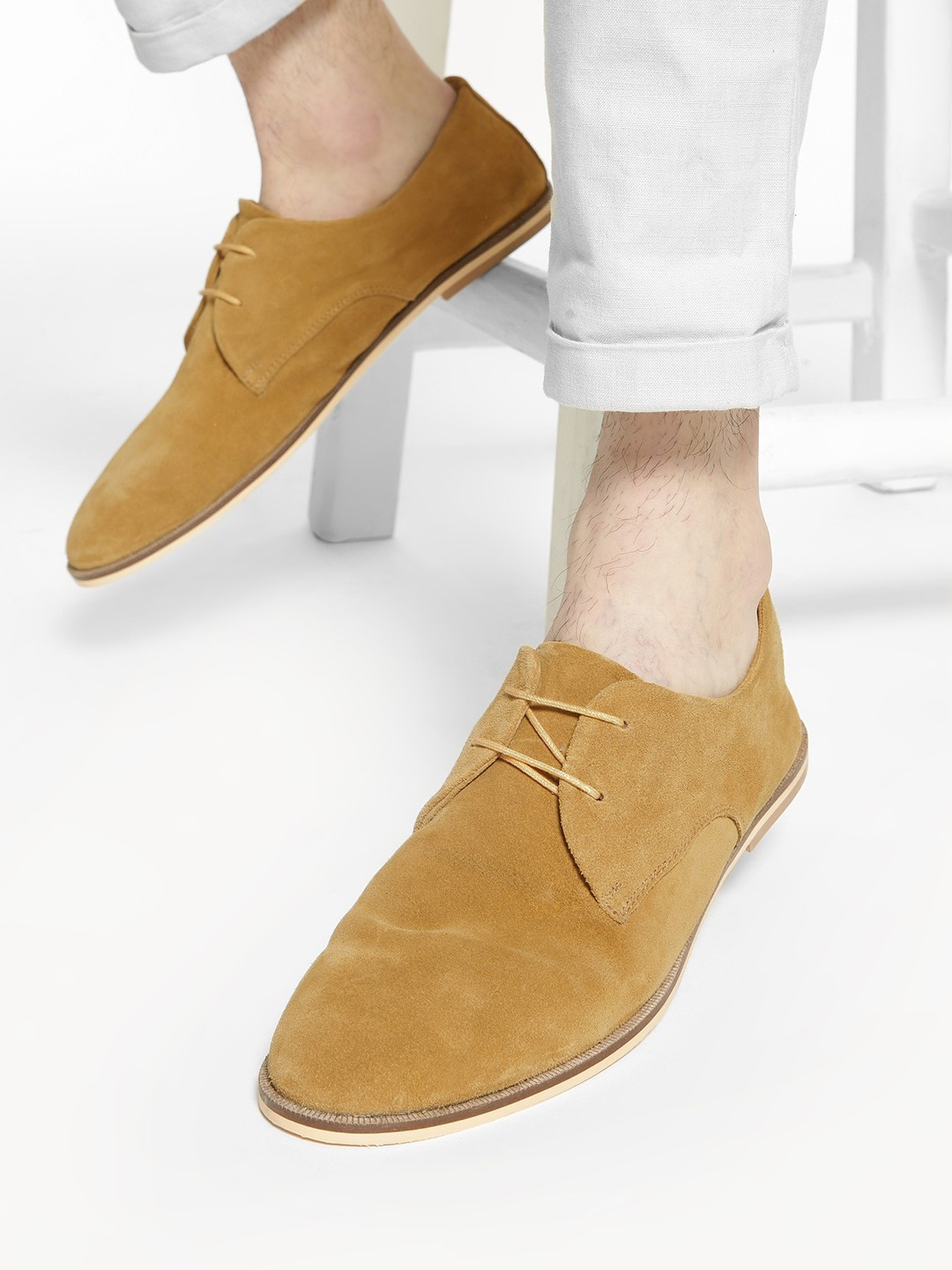 Griffin Brown Basic Suede Derby Shoes 1