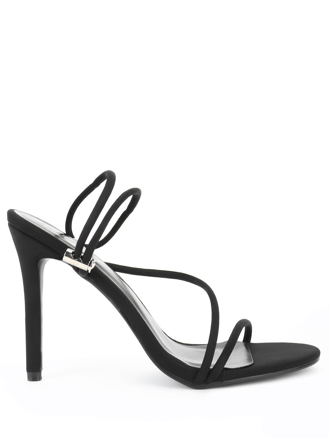 Intoto Black Toggle Detail Heeled Sandals 1
