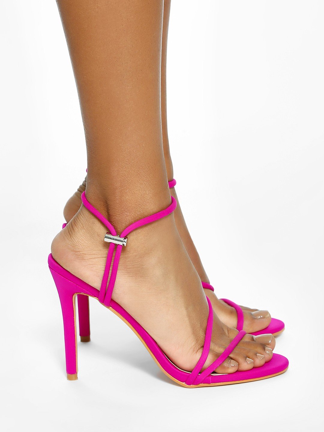 Intoto Pink Toggle Detail Heeled Sandals 1