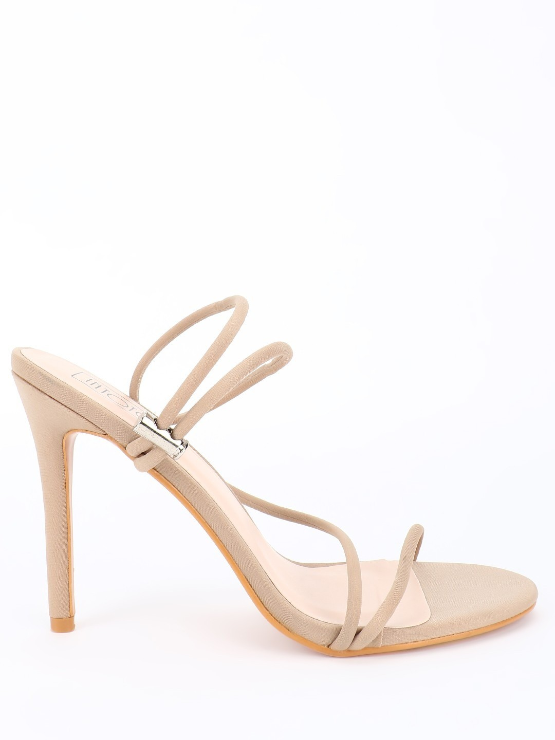 Intoto Beige Toggle Detail Heeled Sandals 1