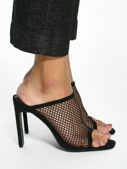 Intoto Mesh Mule Heeled Sandals