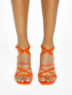 Intoto Clear Strap Heeled Sandals