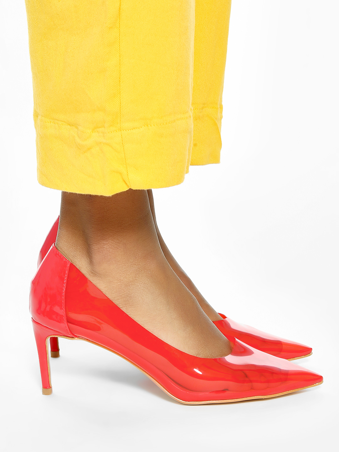 Intoto Red Coloured Perspex Pumps 1