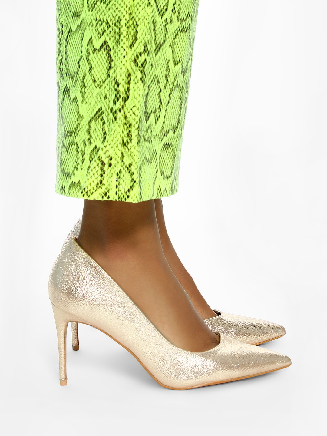 Intoto Rose Gold Metallic Foil Cut-Out Pumps 1