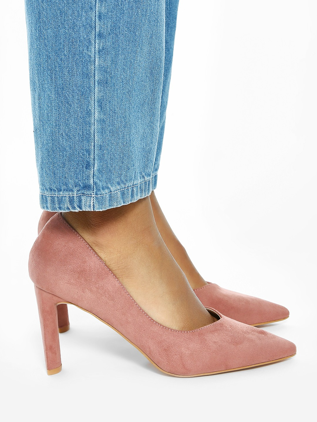 Intoto Pink Basic Suede Pumps 1