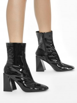 Intoto Patent Calf Length Boots
