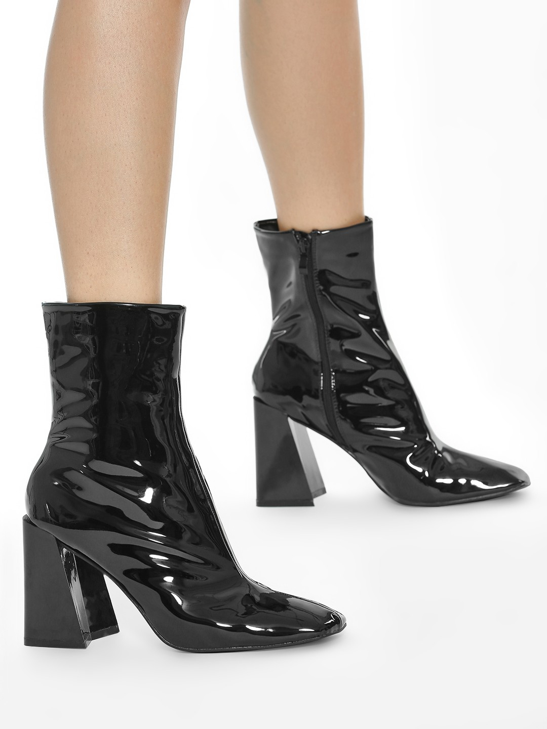 Intoto Black Patent Calf Length Boots 1