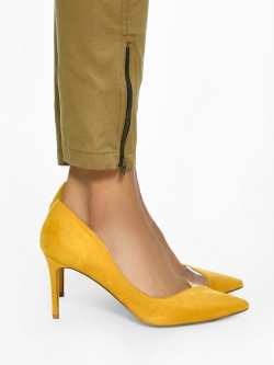 Intoto Half Clear Toe Suede Pumps