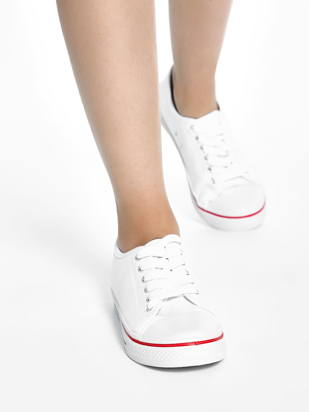 Truffle Collection White Basic Canvas Sneakers 1