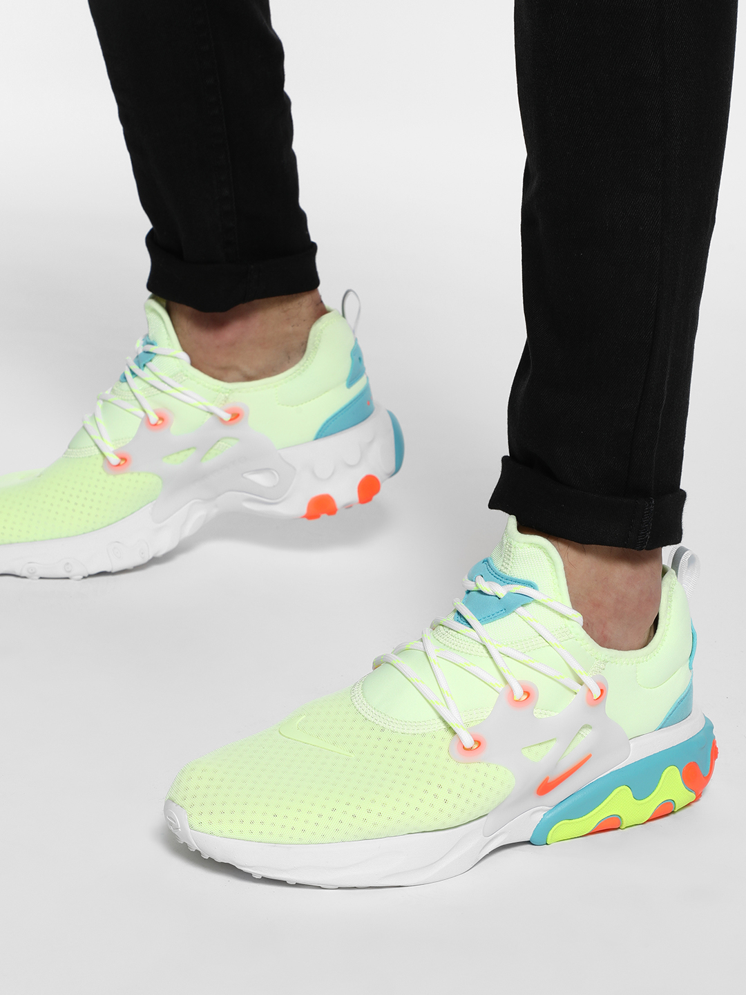 Nike White React Presto Psychedelic Lava Shoes 1