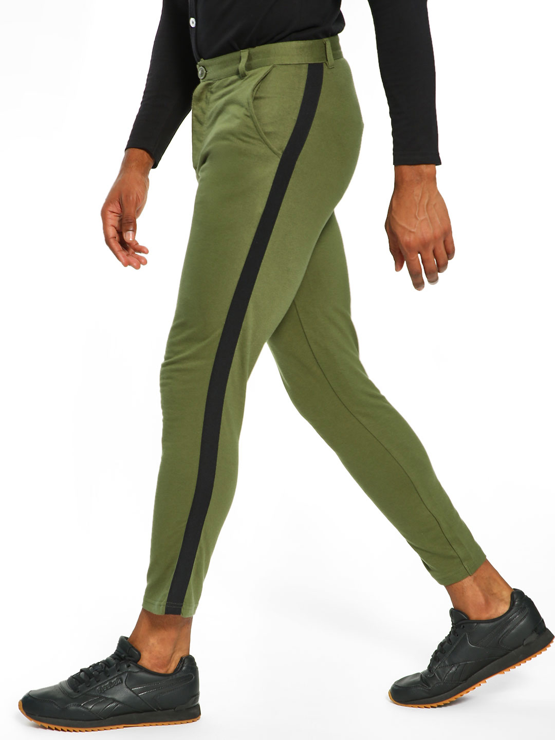 Garcon Green Knitted Side Tape Trousers 1