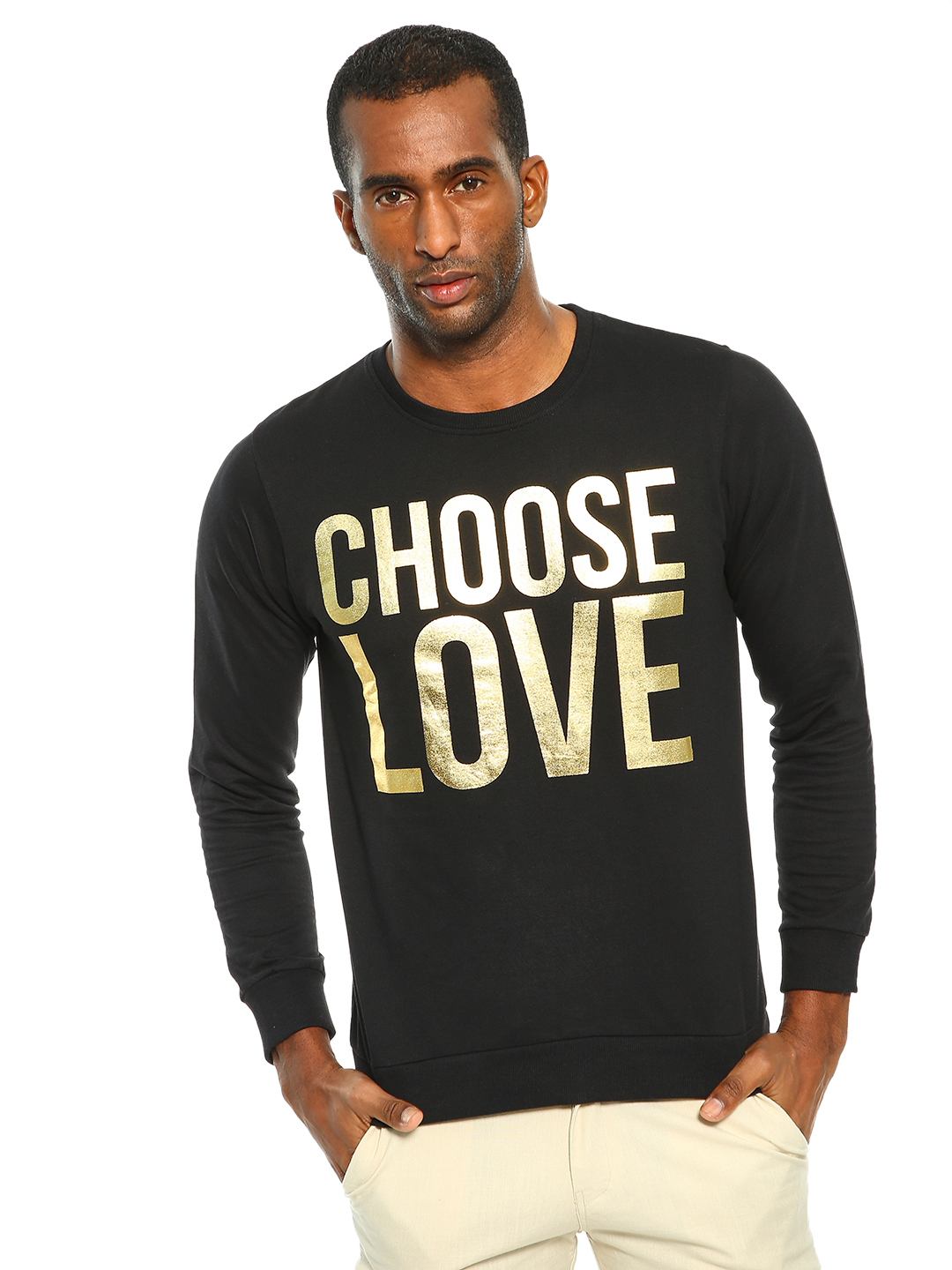 Garcon Black Choose Love Foil Print T-Shirt 1