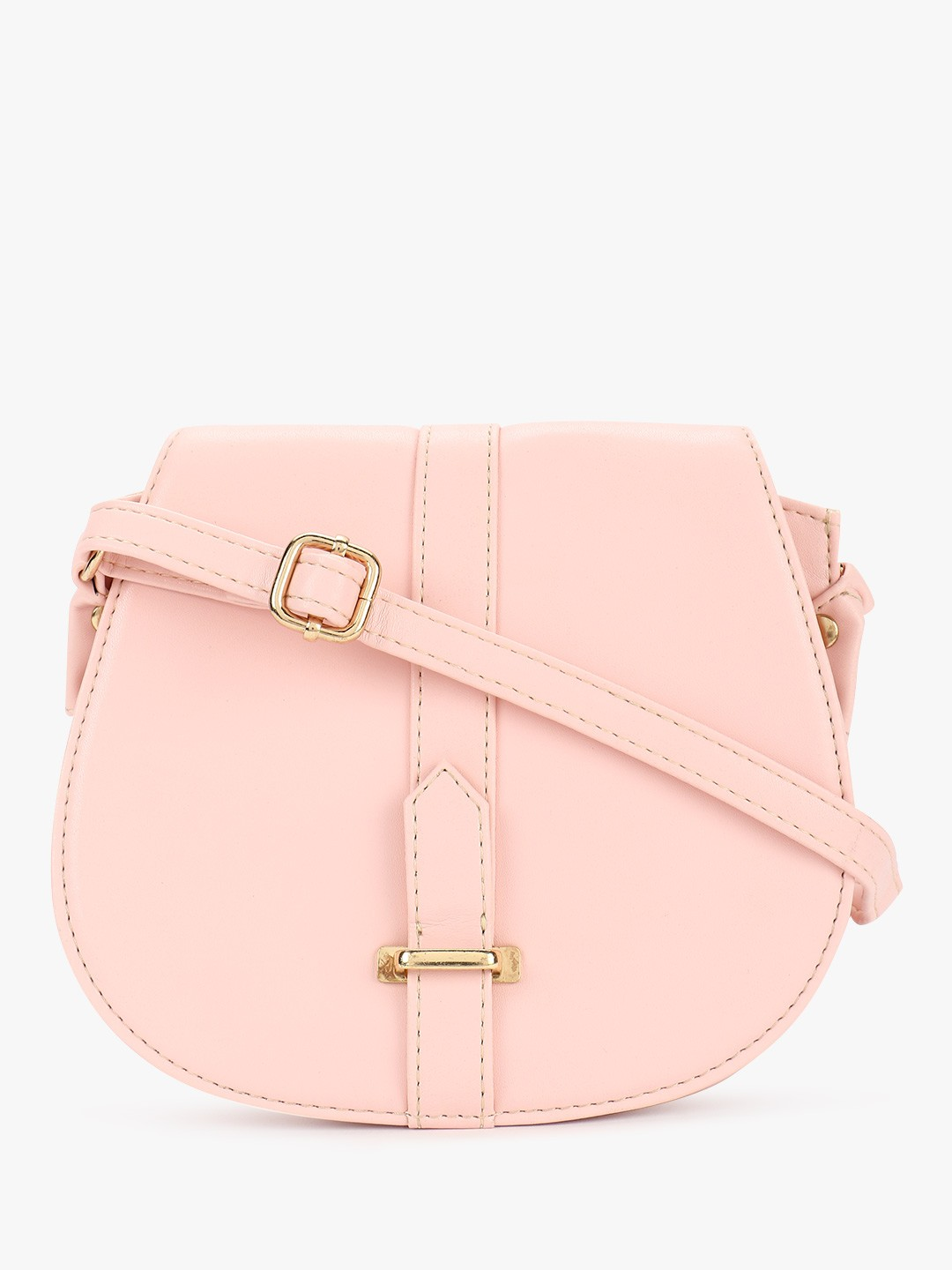 Paris Belle Pink Buckle Detail Sling Bag 1