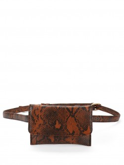 Paris Belle Snakeskin Waist Pouch Belt