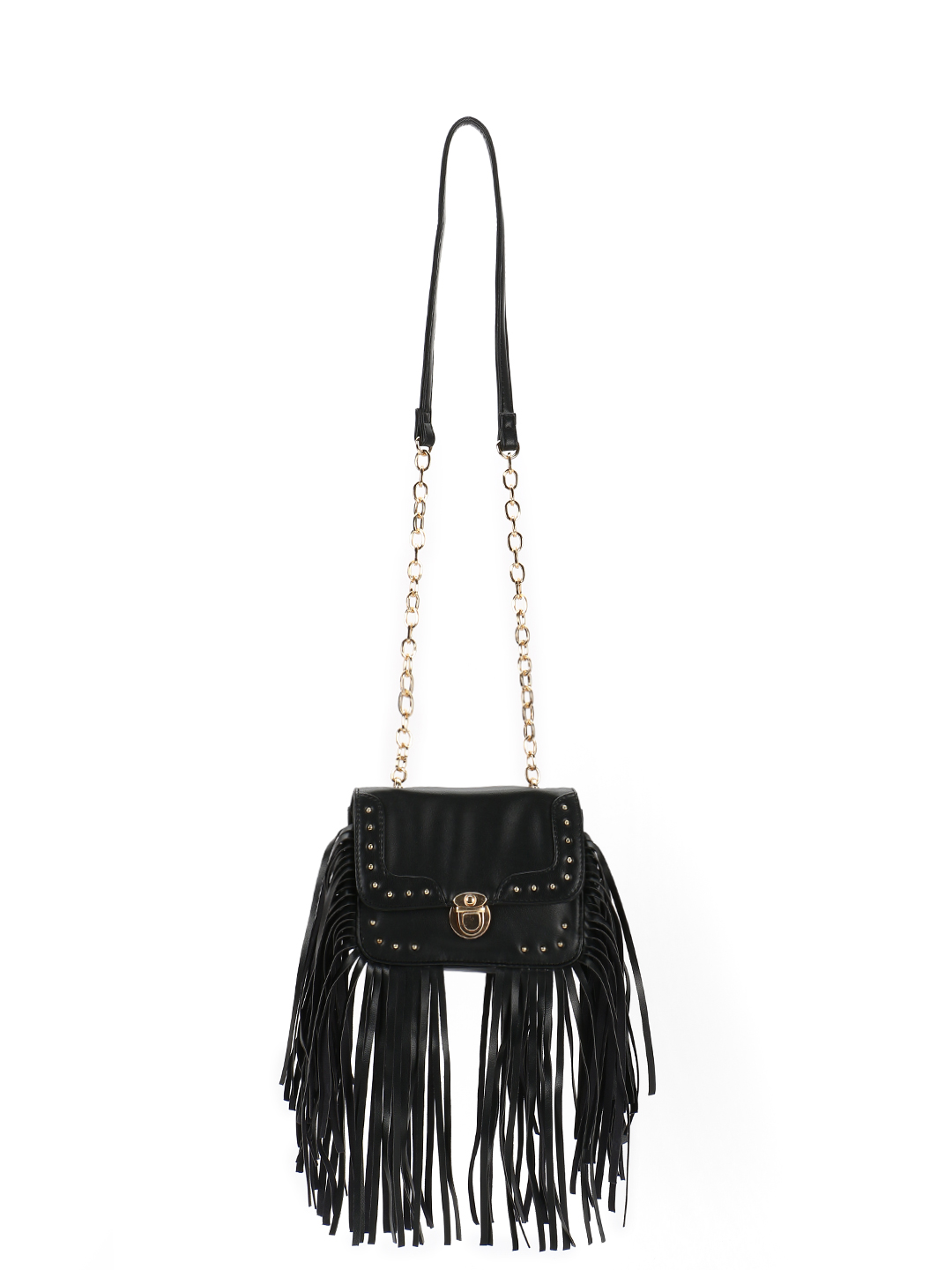 Paris Belle Black Stud Detail Sling Bag 1