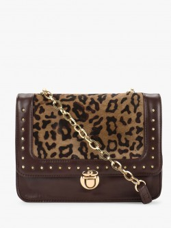 Paris Belle Animal Fur Studded Sling Bag