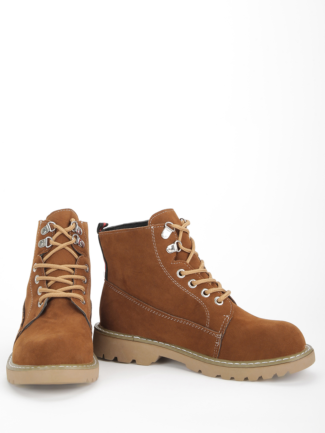 EmmaCloth Brown Suede Ankle Lace-Up Boots 1