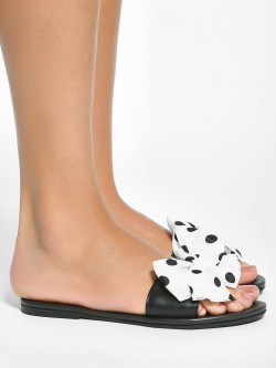 EmmaCloth Polka Dot Bow Slides