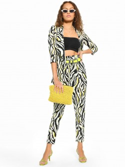 Closet Drama Zebra Print High Waist Trousers