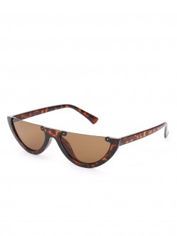 Sneak-a-Peek Half Frame Tortoise Shell Sunglasses